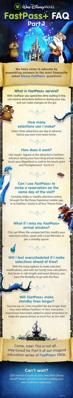 Learn the basics of FastPass+ with these FAQs from Our Laughing Place Travel where we are ready to help you plan your magical Disney vacation! At OLP Travel, we put the Pixie Dust in Concierge Service! #DisneyPlanning at www.ourlaughingplace.com