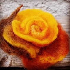 Roses 1 each beatifull flower. Hand made felted with merino. Brooch or hair pin. Felt Gifts, Rose Tea, Hair Pins, Ireland, Xmas, Brooch, Free Delivery, Flowers, Sunshine