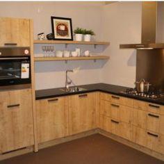 Moderne hoek keuken 1013