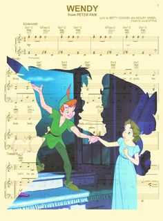 Peter Pan et Wendy Darling Art Print par AmourPrints sur Etsy