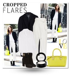 """""""Cropped Flares"""" by j-n-a ❤ liked on Polyvore featuring Diane Von Furstenberg, MSGM, Sea, New York, Equipment, MAC Cosmetics, Salvatore Ferragamo, women's clothing, women's fashion, women and female"""