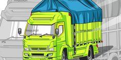 Jasa Desain Grafis Murah dan Jasa Vector Murah - Bangs Art Id Truk Vector Vector Design, Vector Art, Logo Design, Truck Art, Mitsubishi Lancer Evolution, Mascot Design, Truck Design, Sticker Design, Anime Neko