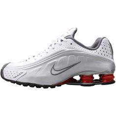 af2d01765055a6 Nike Shox R4 (White Silver-Red)