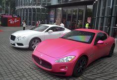 Pink Maserati Ghibli