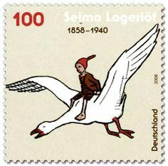 Selma-Lagerlöf-Nils-Holgersson-Briefmarke2008