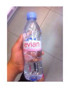 Evian water #evian #water so tumblr