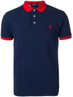 Polo Ralph Lauren Contrast Collar Polo Shirt In 002 Blue Ralph Lauren Store, Ralph Lauren Logo, Camisa Polo, Contrast Collar, Spring Outfits, Spring Clothes, Golf Shirts, Size Clothing, Women Wear
