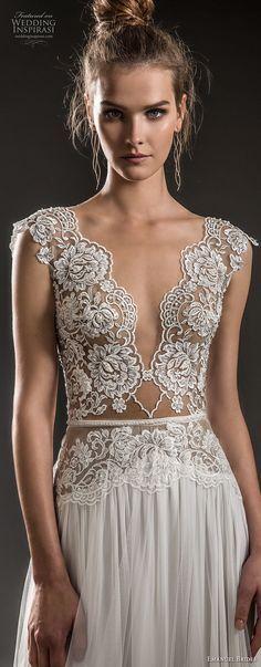 emanuel brides 2018 bridal cap sleeves deep v neck heavily embellished bodice sexy romantic soft a line wedding dress keyhole back sweep train (12) zv -- Emanuel Brides 2018 Wedding Dresses