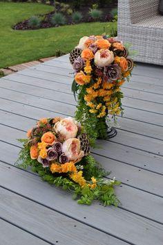 Grave Decorations, Flower Decorations, Funeral Flowers, Floral Arrangements, Floral Wreath, Wreaths, Fall, Wedding, Urn