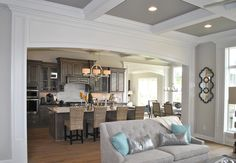 Models & Parade of Homes | Photo Gallery | 3 Pillar Homes | Central Ohio Custom Home Builder | Interior Design | Dream Home | Great Room | Kitchen | Coffered Ceiling | Trim