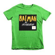 Batman In Training Fly Tots Short sleeve kids t-shirt black graphic