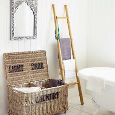 Bamboo Ladder Towel Rack - Bathroom Accessories - Bathroom