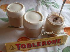 Erruki Laurel: Yogur de Toblerone Toblerone, Sour Cream, Ice Cream, Food N, Kefir, Kombucha, Cake Pops, Parfait, Mousse
