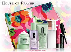 Online and in-stores at House of Fraser. A gift - free with 2 Clinique products purchase.