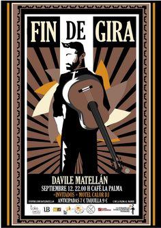 "Fin de gira ""Eólica Tour"" de Davile Matellán, el 12 de septiembre en Café La Palma #Madrid."