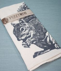 Squirrel Tea Towel on Etsy - so cute!