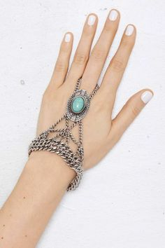 Rio Concho Hand Piece - Accessories | Body Chains | Bracelets | Silver