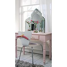 Venetian style dressing table mirror