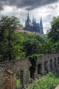 Prague Castle in the Czech Republic. Prague Castle is a castle in Prague where the Kings of Bohe. Relax with this nature photo. Beautiful Castles, Beautiful Places, Budapest, Cool Places To Visit, Places To Travel, Gothic Castle, Prague Castle, Peles Castle, Prague Czech Republic