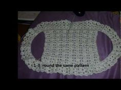 b25acac0a7eb how to crochet a simple BOLERO/SHRUG for children with step by step method