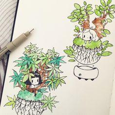 floating baby bonsais