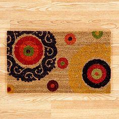 natural suzani dot doormat, world market, 17$