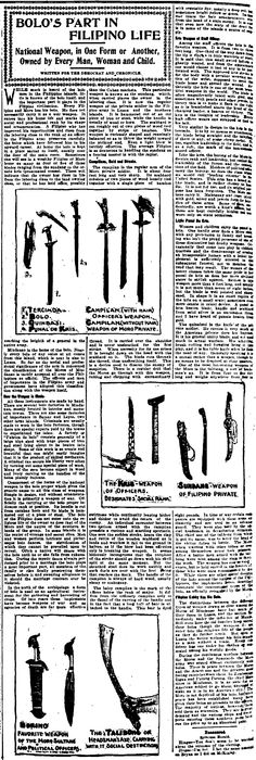 Filipino Martial Arts Reported in a New York Newspaper, 1900