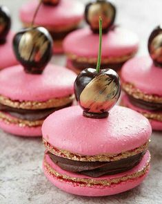 Gold Forest Macarons - Food Meme - Gold Forest Macarons The post Gold Forest Macarons appeared first on Gag Dad. Beautiful Desserts, Cute Desserts, Beautiful Things, Macaron Fimo, Cookie Recipes, Dessert Recipes, Macaroon Cookies, French Macaroons, Pink Macaroons