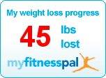 Got my 45 pounds badge! Can't wait for 50 - it's just around the corner!!