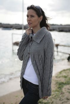 CASUAL STYLE CARDIGAN Handknit Unique by NihanAltuntas on Etsy, $268.00