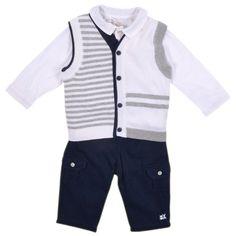 758c53b362983 Kids Cavern - Emile et Rose AW15 Grey Stripe   Navy Suit 9496
