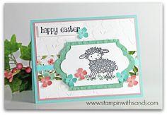 Stampin UP Easter Lamp, card by Sandi @ www.stampinwithsandi.com