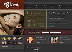 Glam Model Flash Templates by Delta