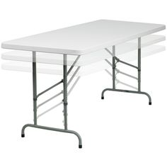 White Plastic Height Adjustable Folding Table | Overstock.com Shopping - The Best Deals on Kids' Table & Chair Sets