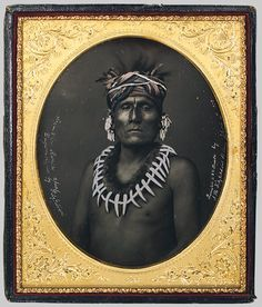 Kno-Shr, Kansas Chief, 1853  John Fitzgibbon (American, 1816?–1882)  Daguerreotype.