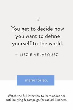Author, speaker and anti-bullying activist Lizzie Velasquez is an expert on the transformative power of kindness. Watch this now and learn how a simple shift in perspective can help this world become a kinder, more compassionate place. This one is a must-watch, must share! #lizzievelasquez #antibullying #kindness #kindnessquotes