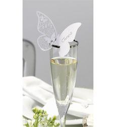 Hochzeit - Tischkarte Schmetterling 10er-Set MATT - ein Designerstück von Brautzilla-Shop bei DaWanda
