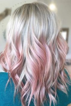 12764897 Soft pink peekaboo highlights on this pretty blonde pastel pink ombre hair - Ombre Hair Pink Peekaboo Highlights, Blonde Hair With Pink Highlights, Blonde To Pink Ombre, Blond Pastel, Pastel Pink Hair, Blonde With Pink, Ombre Hair Color, Blonde Pink Balayage, Pink Peekaboo Hair