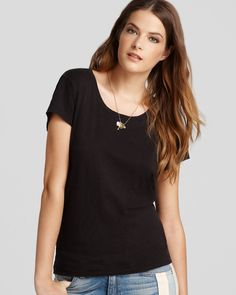 + Relaxed black tee