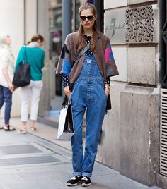 A Street Style Denim Look For Every Day Of The Month via @WhoWhatWear