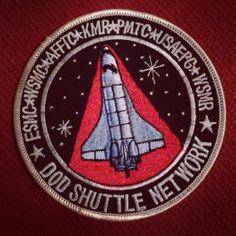 Vintage patch. DOD shuttle network. NASA.