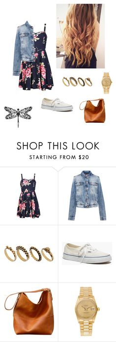 """#154"" by nana-st on Polyvore featuring moda, Ally Fashion, Pull&Bear, DesignSix, Madewell, Rolex, women's clothing, women's fashion, women e female"
