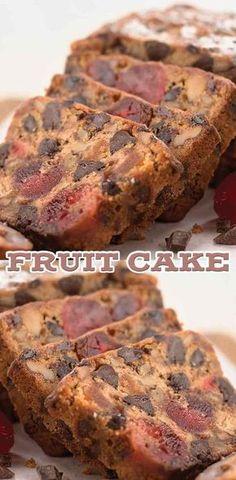 ideas for fruit cake christmas xmas Easy Cake Recipes, Sweet Recipes, Baking Recipes, Dessert Recipes, Best Fruit Cake Recipe, Fruit Cake Recipes, Fruit Loaf Recipe, Christmas Cooking, Christmas Desserts