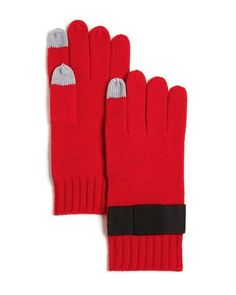 Cool tech gifts for travelers: Kate Spade NY Grosgrain bow tech gloves