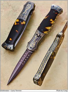 Photos SharpByCoop • Gallery of Handmade Knives by Larry Newton