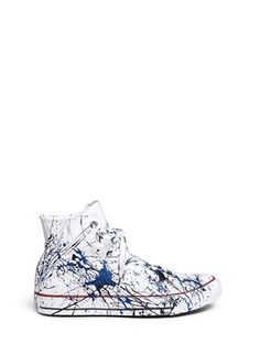 RIALTO JEAN PROJECTOne of a Kind Hand-painted splash high top sneakers - Sz 38
