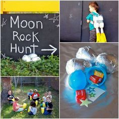 Fill easter eggs and wrap in foil! Rocket Party Game: Moon Rock H Alien Party, Astronaut Party, Rocket Birthday Parties, Birthday Party Games, 3rd Birthday, Birthday Ideas, 1st Birthday Party Places, Themed Birthday Parties, Birthday Favors