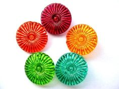 painted glass buttons