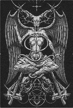 Skull Baphomet / by Jumali Katani Dark Fantasy, Fantasy Art, Satanic Art, Evil Art, Occult Art, Baphomet, Angels And Demons, Gothic Art, Horror Art