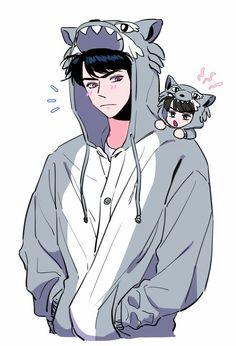 sehun fanart | exo Kpop Anime, Anime Guys, Character Art, Character Design, Character Concept, Exo Stickers, Chanyeol, Sehun Cute, Character Illustration
